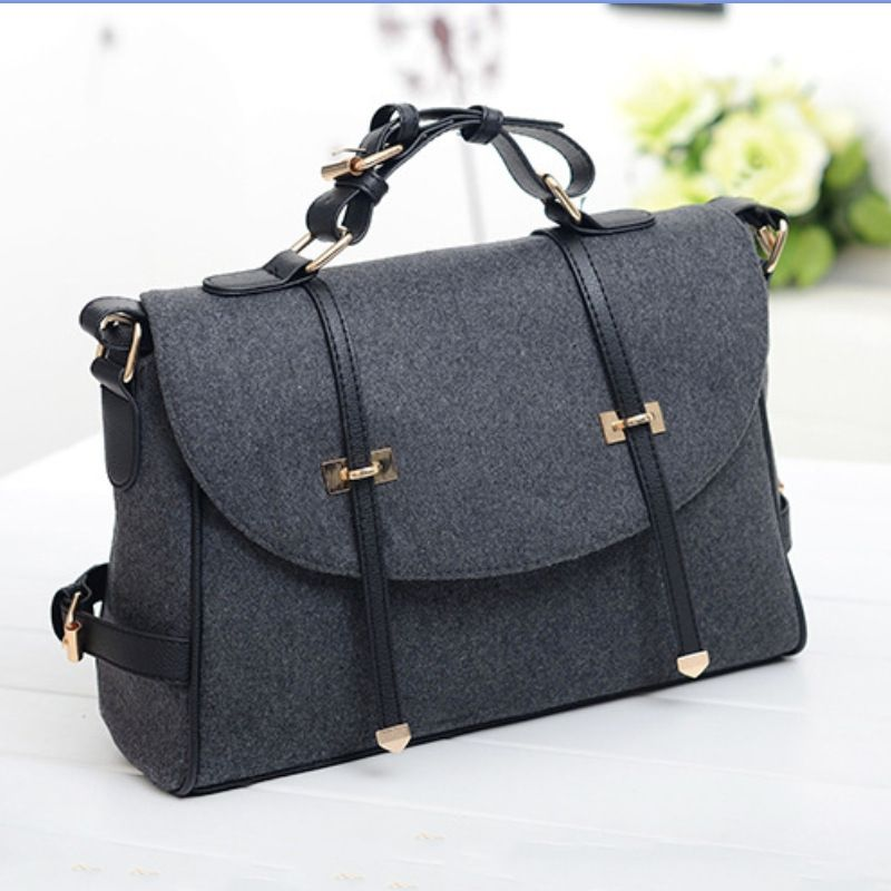 Handbag Pockets Quality Chain Directly From China Women Suppliers Design Handbags Shoulder Bags Materials Woolen