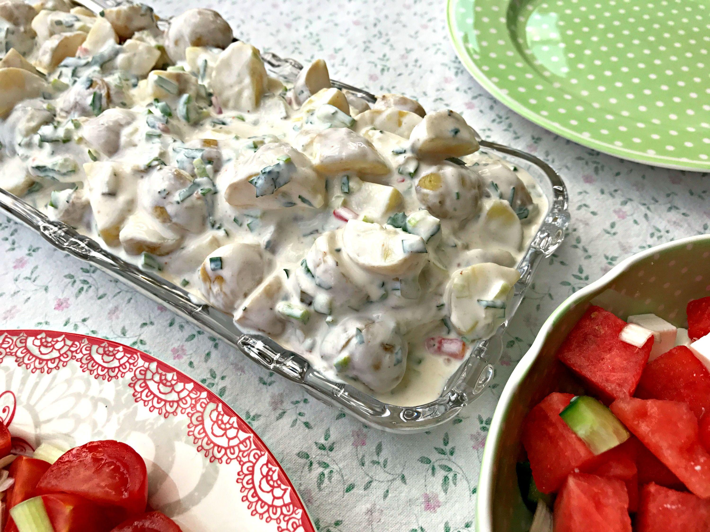 Kold Kartoffelsalat Opskrift På Lækker Gammeldags Kartoffelsalat