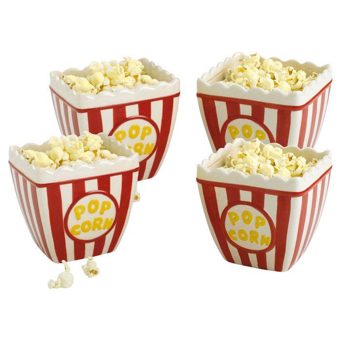 Classic Popcorn Bowl (Set of 4)