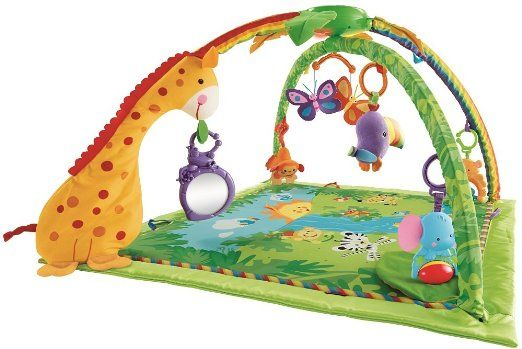 The Fisher Price Rainforest Gym Helps Stimulate Quality Learning Aspects For Infants Popular Infant Toys Fisher Price Baby Toys Fisher Price 4 Month Old Baby