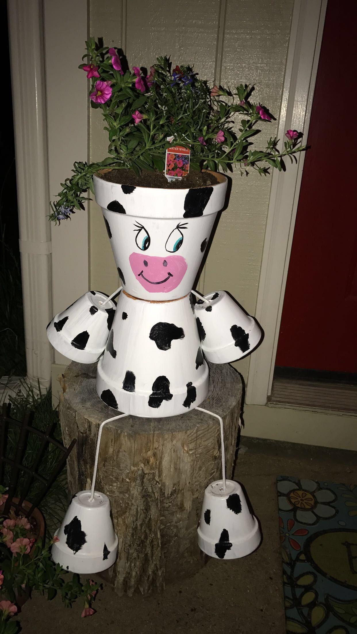 cow clay pot bat clay pots clay pot crafts et clay. Black Bedroom Furniture Sets. Home Design Ideas