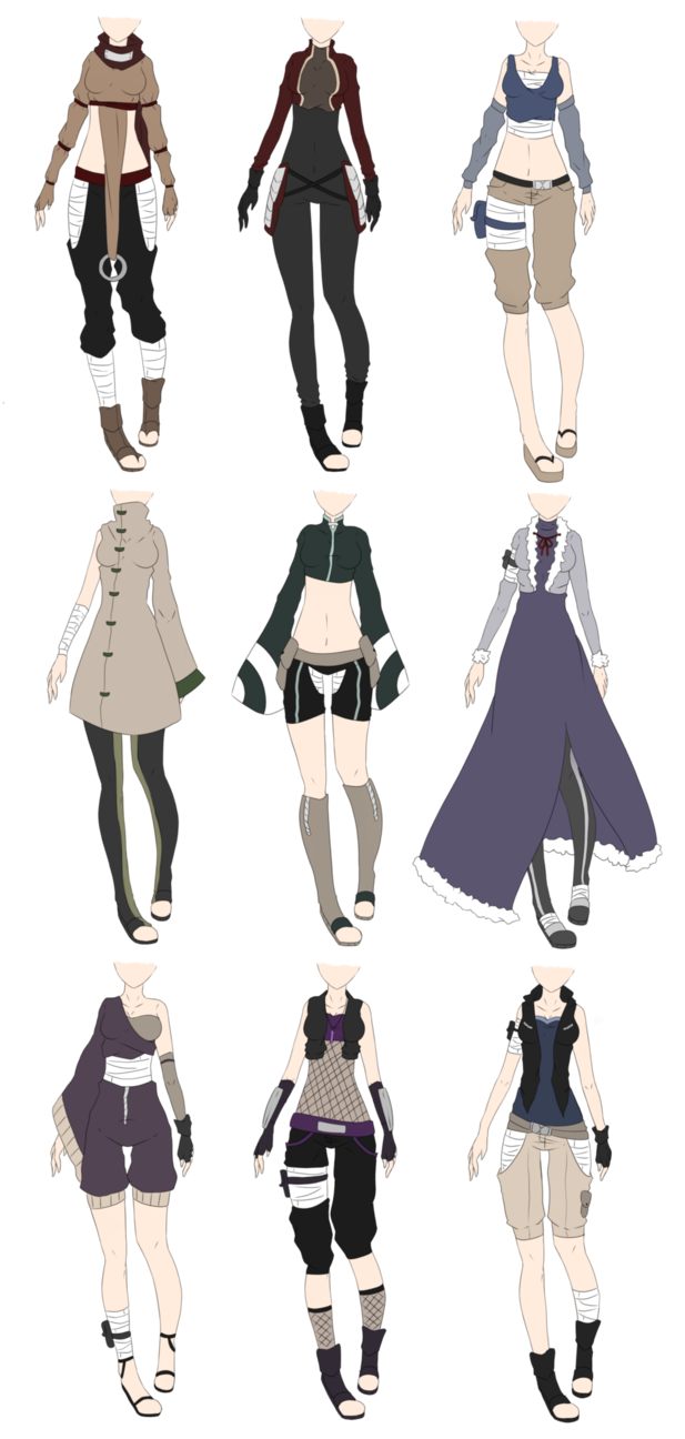 Naruto Outfit Adoptables 2 Closed Anime Outfits Fashion Design Drawings Fantasy Clothing