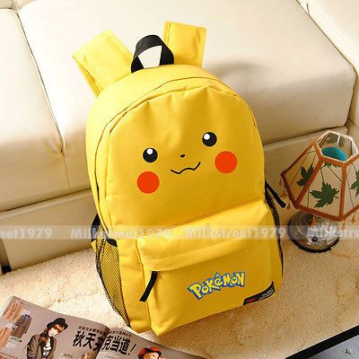Pokemon Mochila Pikachu, Gengar, Squirtle, Wobbuffet Mochila Escolar (tipo múltiple)
