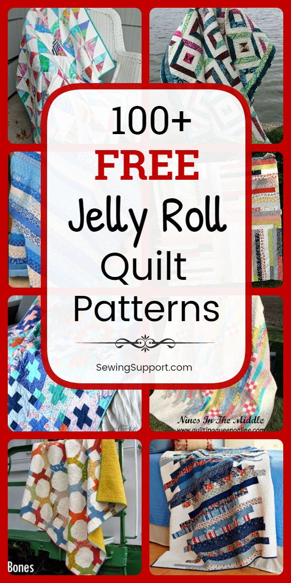 100+ Free Jelly Roll Quilt Patterns & Tutorials