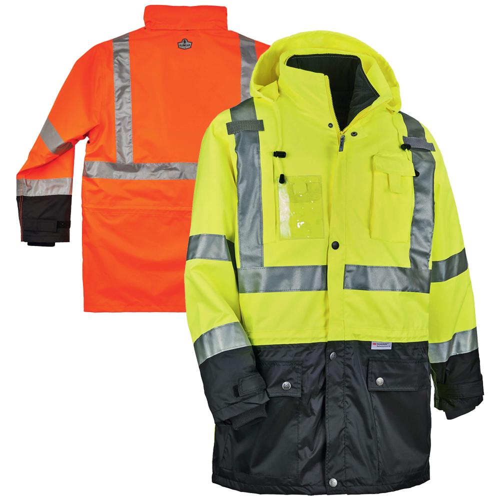 Ergodyne Glowear 8388 5 In 1 Class 3 2 Thermal Jacket Thermal Jacket Winter Work Jackets Jackets