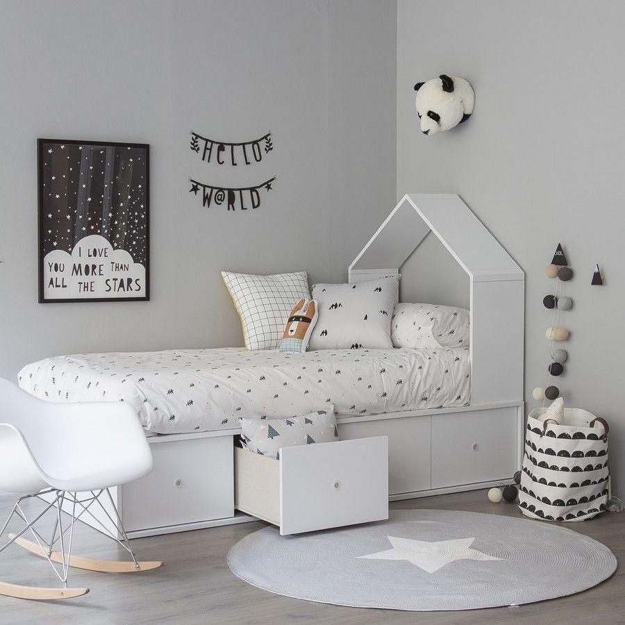 Cama casita con cajones camas dormitorio y habitaci n for Cama habitacion infantil