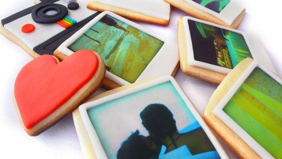 Amazing Polaroid cookies - edible images