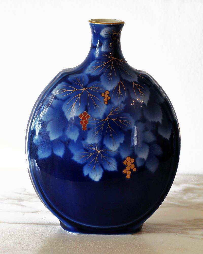 Japanese imari porcelain vase by fukagawa late meiji a - Jarrones de ceramica ...
