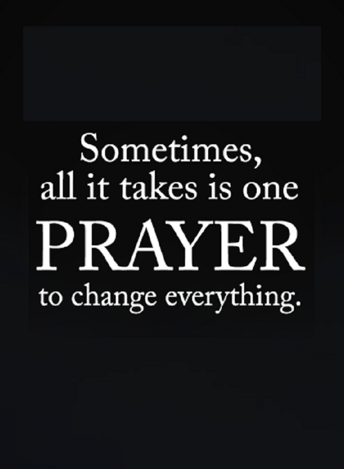 Quotes A prayer that is backed by strong faith can change