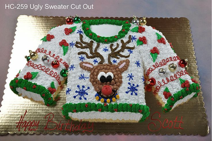 ugly sweater cake Christmas Pinterest Christmas parties