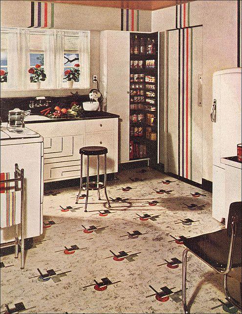 1941 Armstrong Kitchen With Pantry Ama De Casa Cocinas Y