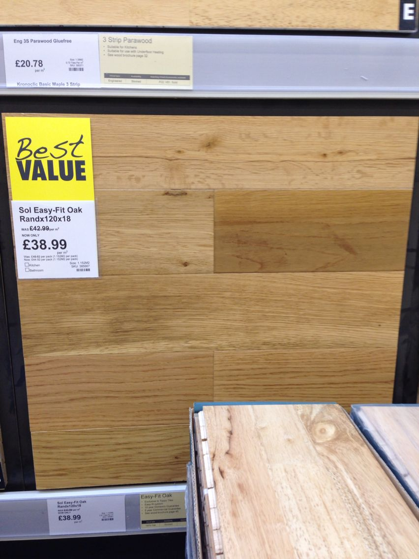Topps tiles sol easy fit oak rand 120 x 18mm real wood topps tiles sol easy fit oak rand 120 x 18mm real wood flooring dailygadgetfo Images