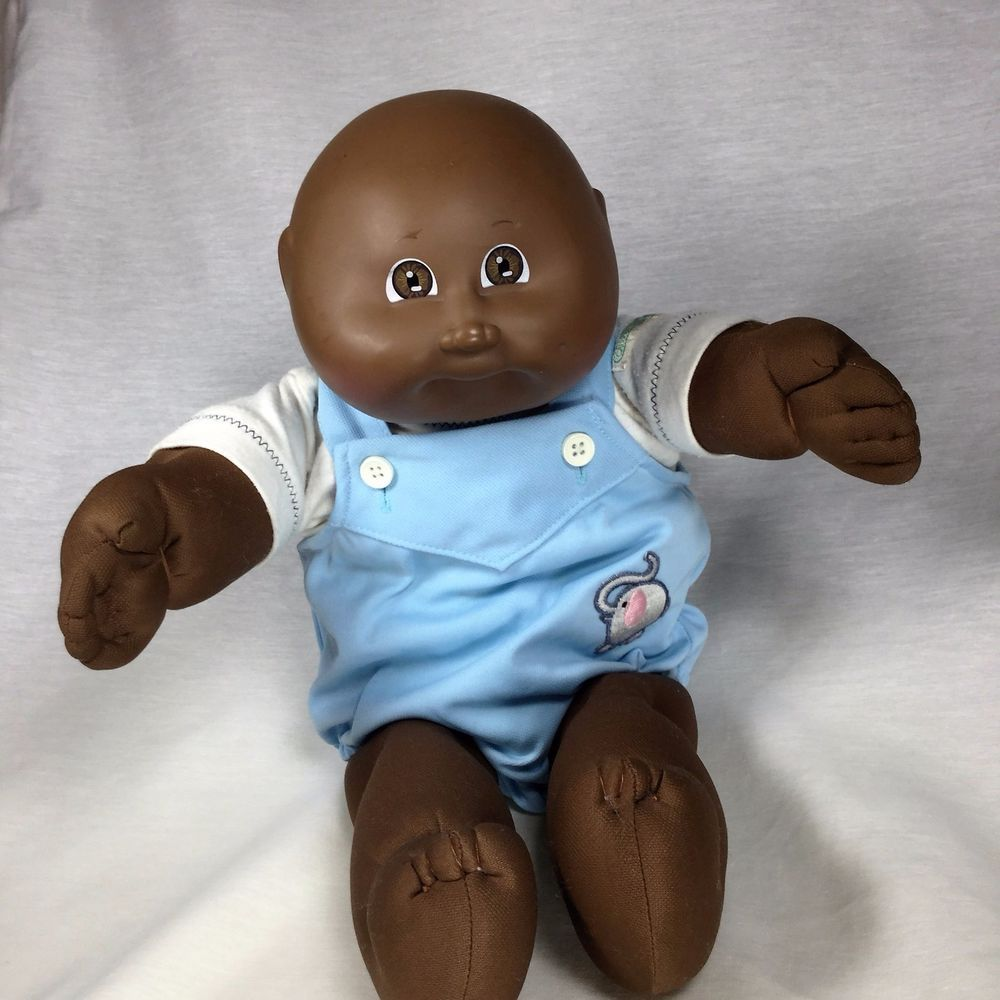 Coleco Cabbage Patch Kid Black Aa Bald Boy Doll Cpk 1984 Elephant Romper 16 Guc Cabbagepatch Dolls Cabbage Patch Kids Bald Boy Elephant Romper