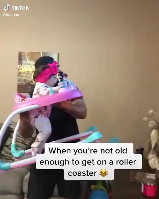 Dad Playing with Baby TikTok Video