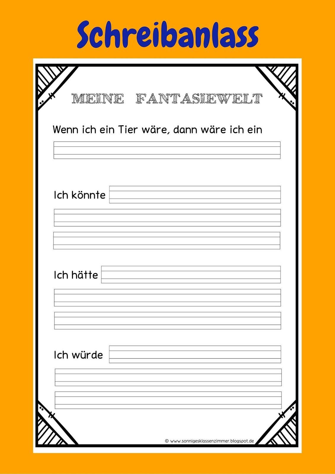 Meine Fantasiewelt Schreibanlass Klasse 1, Klasse 2 Deutsch | daz ...