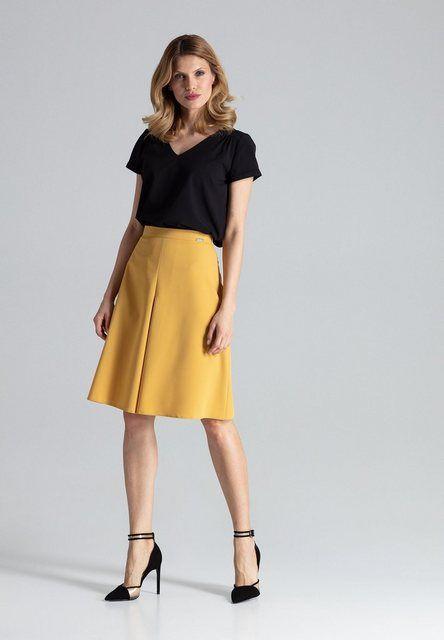 FIGL Damen Kleid Senfgelb