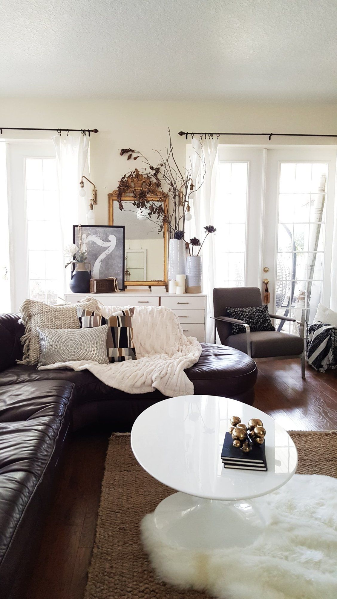 New Look for the New Year - A Modern Eclectic Living Room Refresh ...