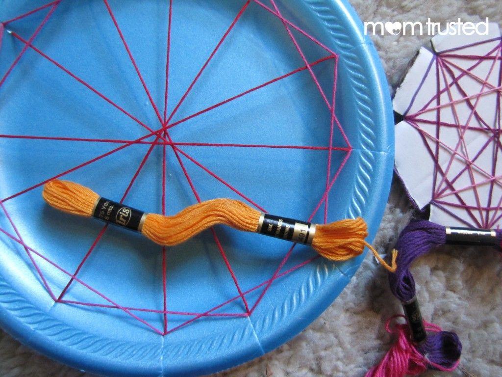 Easy Geometric String Art For Preschoolers