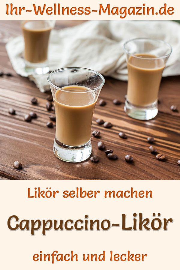 Cappuccino-Likör selber machen: Einfaches Rezept für einen selbstgemachten Kaffee-Sahnelikör. Er wird mit Milch, Sahne,…