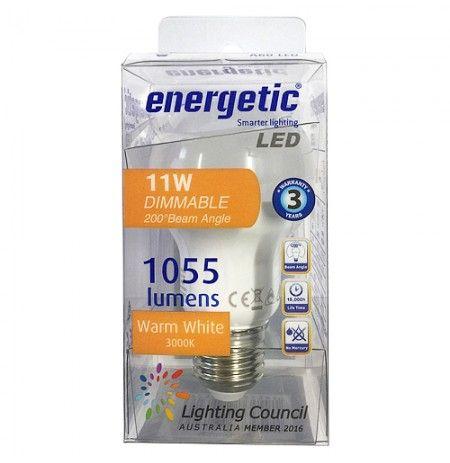 Energetic Led 11w 3k E27 Dimmable 1055lm Led Globe Lights Smart Lighting Led