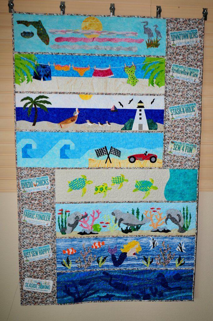 Beach Break Custom Machine Quilting By Natalia Bonner Bonus Video Piece N Quilt Machine Quilting Quilts Free Motion Quilting