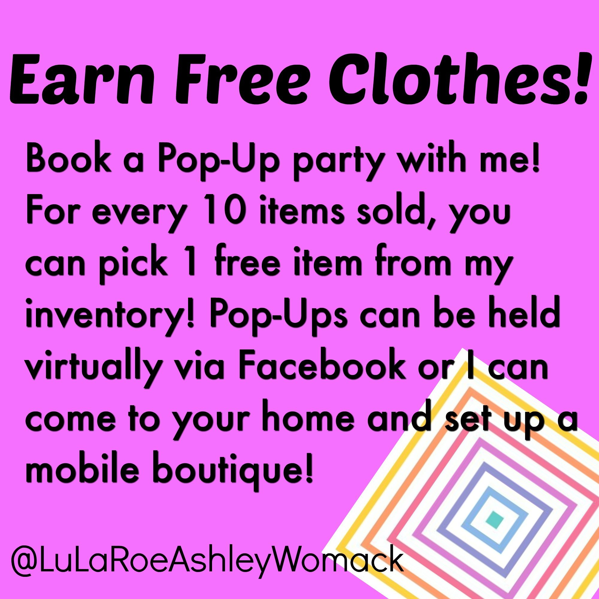 Want To Earn Free LuLaRoe Host A Popup Contact Me At - Past due invoice wording women clothing stores online