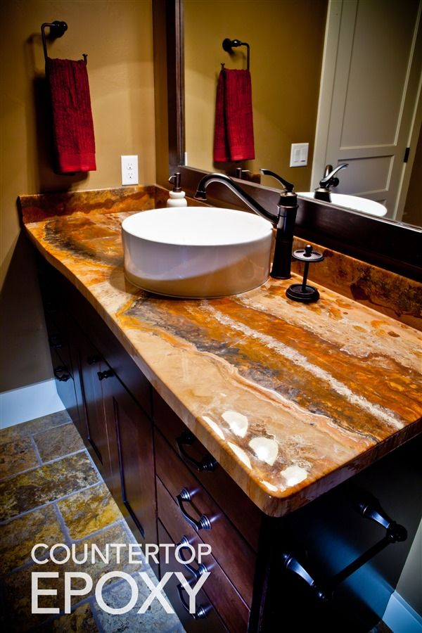 Photos Of Beautiful Seamless Epoxy Countertops Bathroom