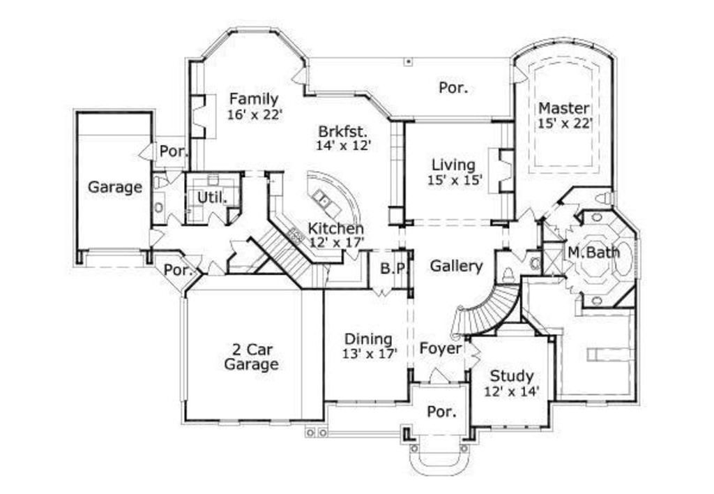 Traditional style house plan 5 beds baths 5000 sq for Floor plans for 5000 sq ft homes