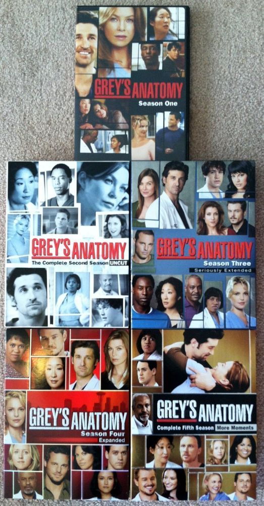 DVD Grey\'s Anatomy: Seasons 1,2,3,4, and 5: 2-5 Are Extended ...