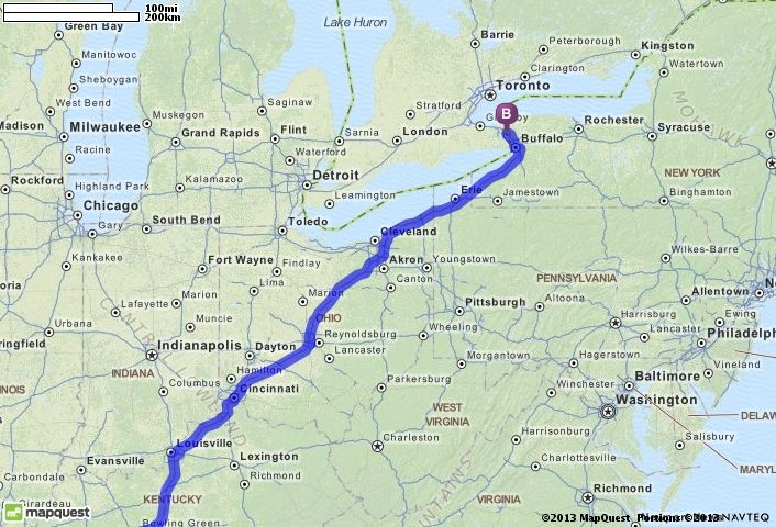 Driving Directions from Florence, Alabama to Niagara Falls, New York ...