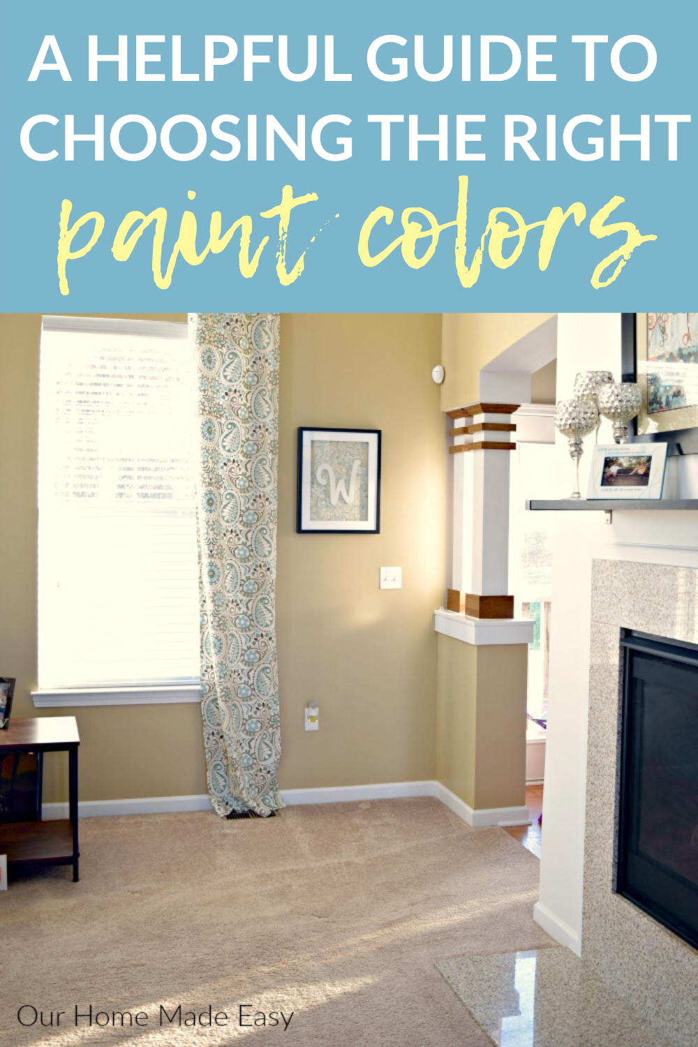 A Helpful Guide To Choosing The Right Paint Colors In 2020 Choosing Interior Paint Color Small Room Paint Warm Paint Colors