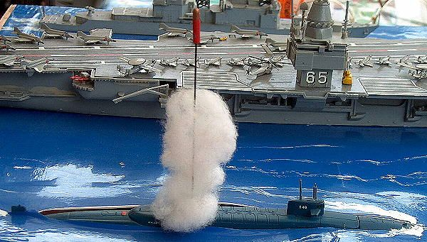 "U-Kreuzer der Benjamin Franklin-Klasse SSB-640 USS ""Benjamin Franklin"" (Italeri/Dragon 514) 1:700"