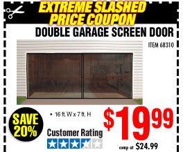 Double Garage Screen Door   harbor freight coupons in 2019
