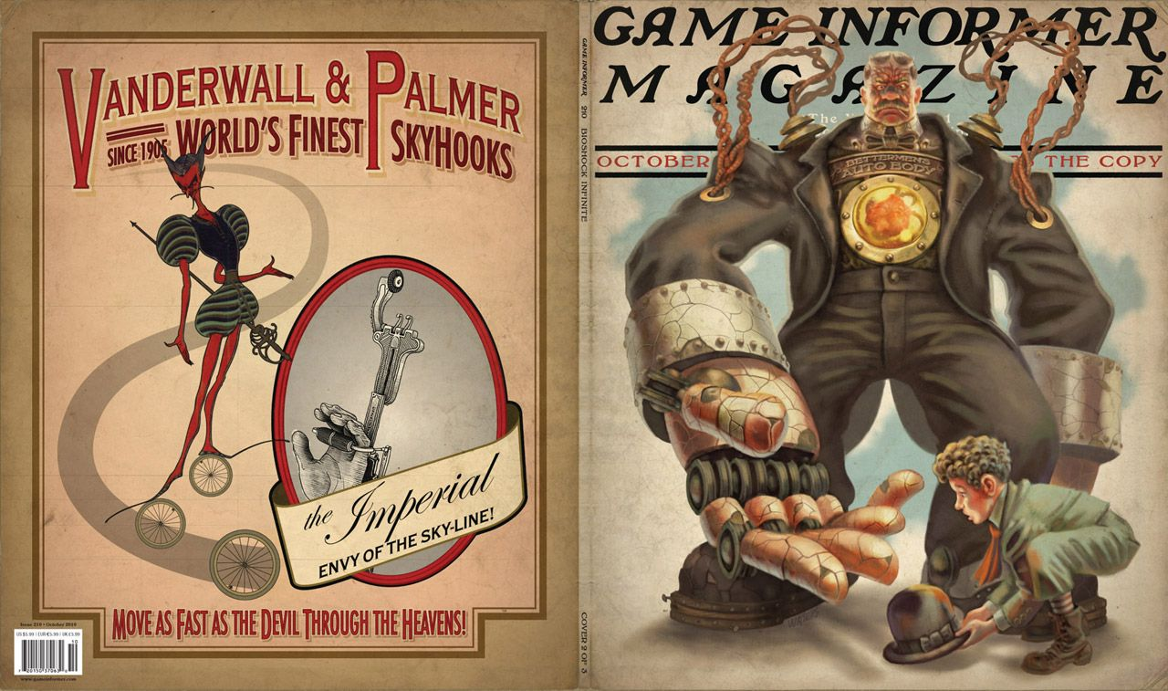 October Cover Revealed Bioshock Infinite Bioshock Bioshock Infinite Infinite Game