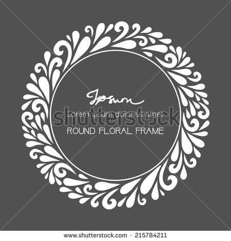 Pin by selektor on ornament pinterest floral decorations vector floral decoration made from swirl shapes simple decorative gray and white illustration for print web buy this stock vector on shutterstock find stopboris Image collections