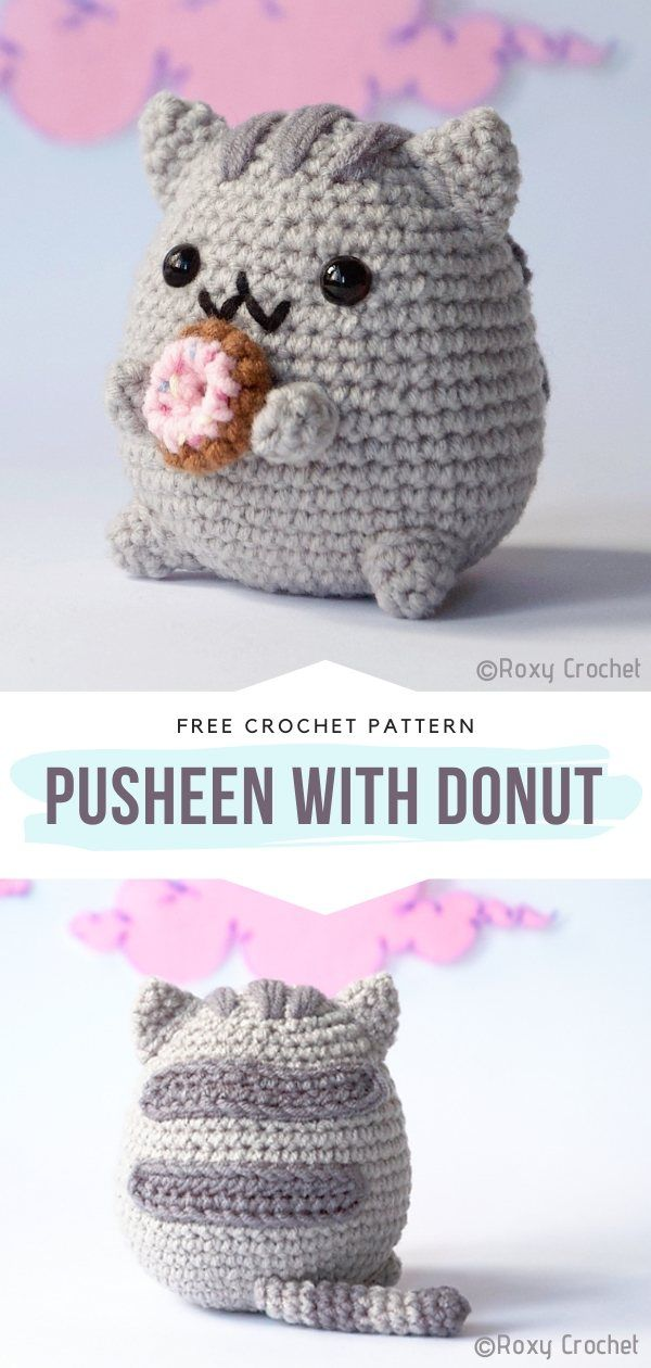 How to Crochet Pusheen with Donut