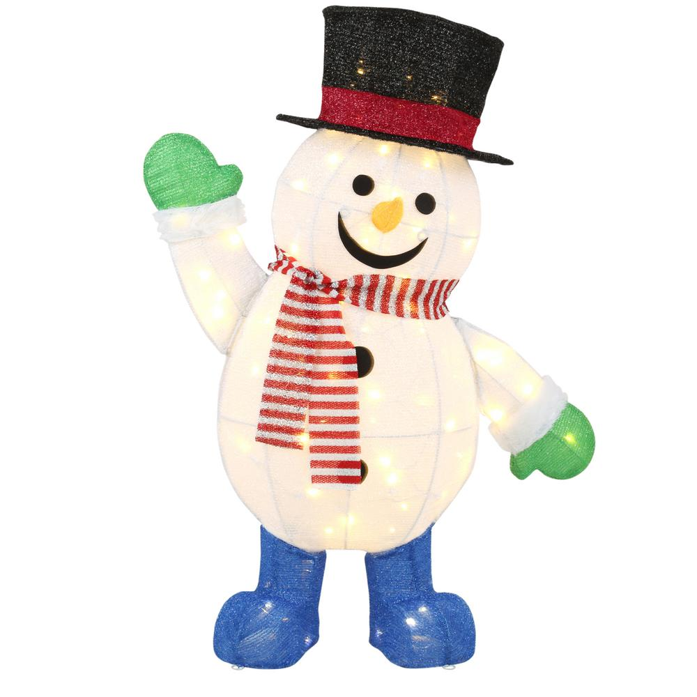 Home Accents Holiday 36 in. LED Warm White Lighted Snowman   Tis ...
