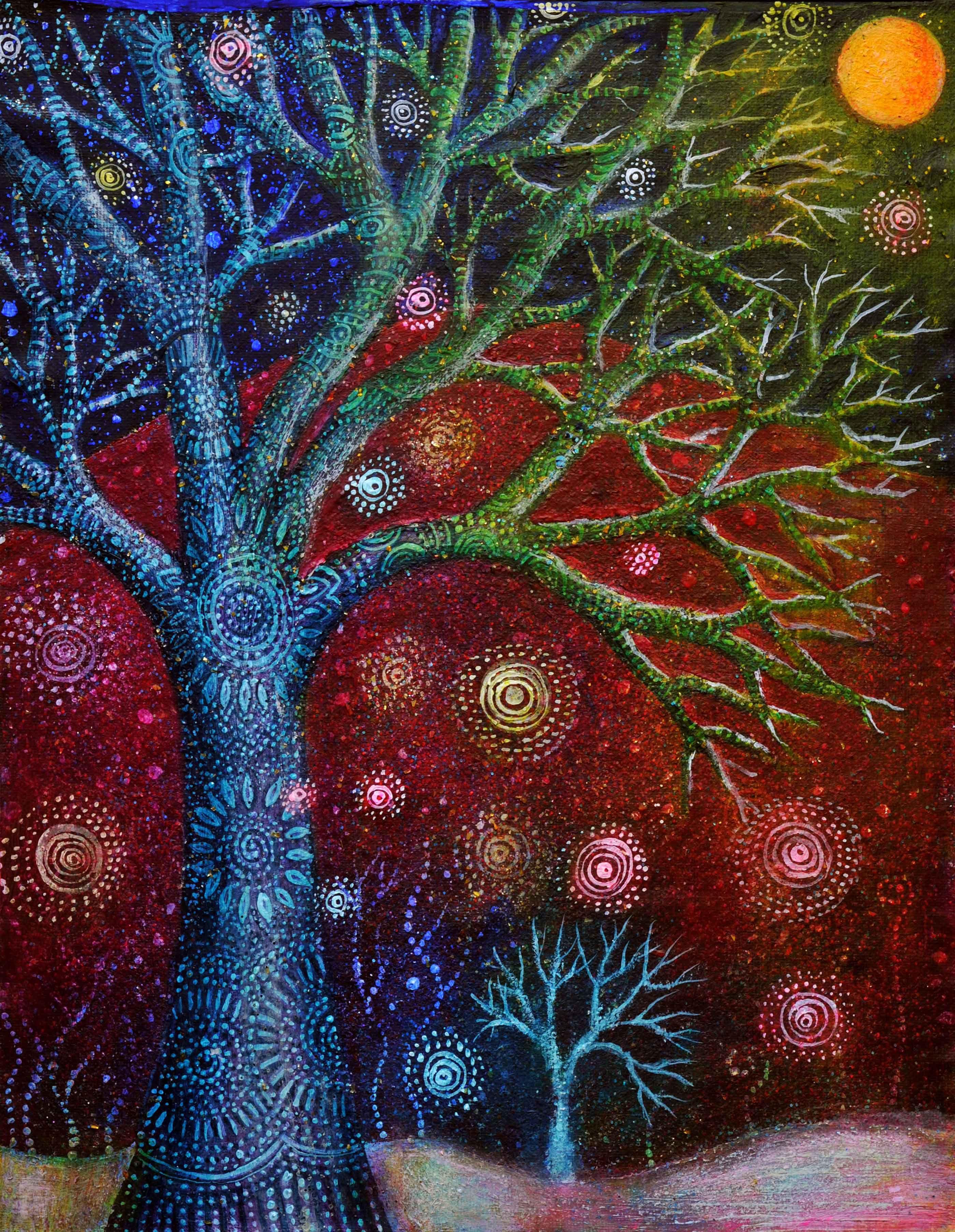 winter solstice tree dot painting pinterest baum spiralen und spiritualit t. Black Bedroom Furniture Sets. Home Design Ideas