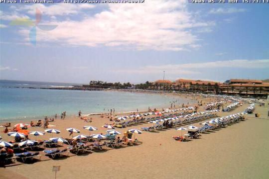 Tenerife Webcam, Playa Las Vistas