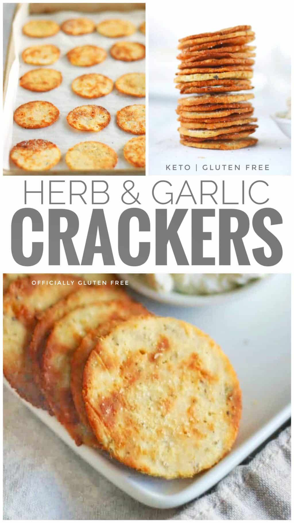Keto Herb and Garlic Crackers | Crispy Low Carb Cr
