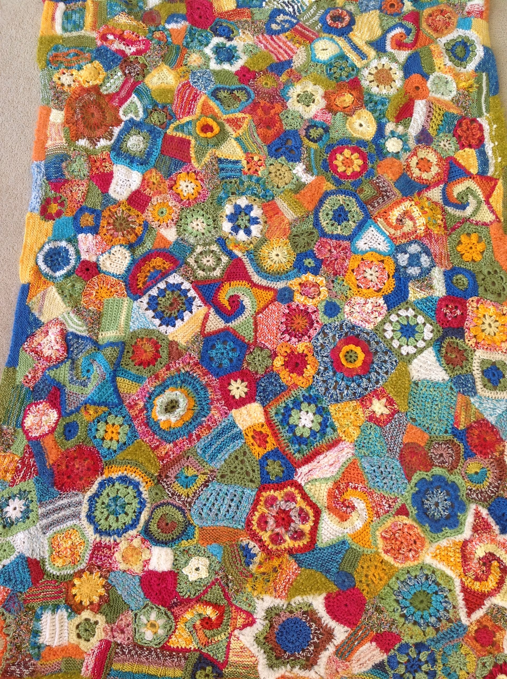 Freeform blanket. Good way to learn how to crochet!   tejido arte ...