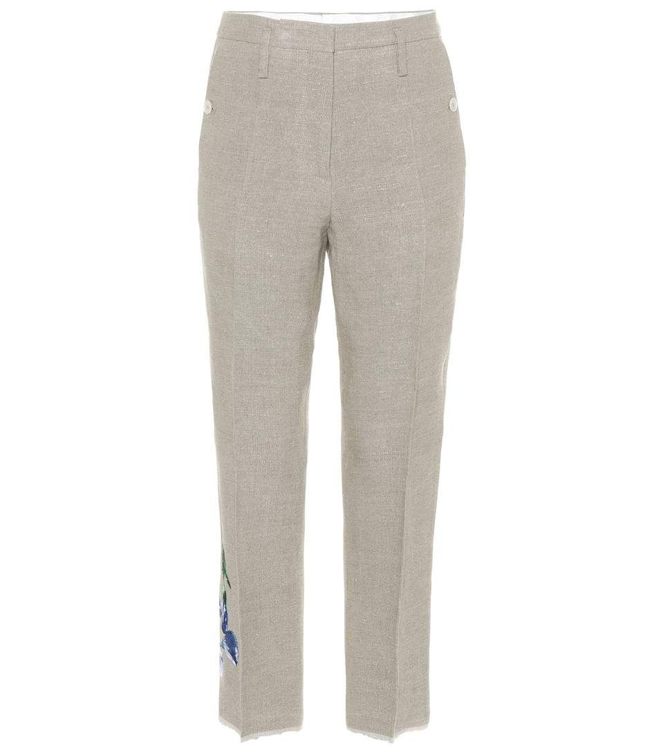 Eastbay Cheap Online Newest Online Embroidered linen trousers Golden Goose Choice Cheap Price Sast Cheap Online Sale 2018 ZptHTKhppT