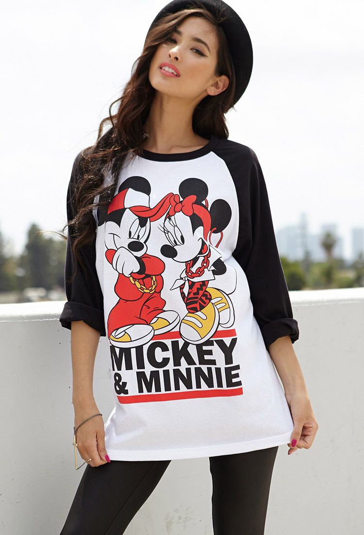 21 Mickey Mouse Nail Art Designs Ideas: Licensed Mickey & Minnie Shirt @ Forever 21