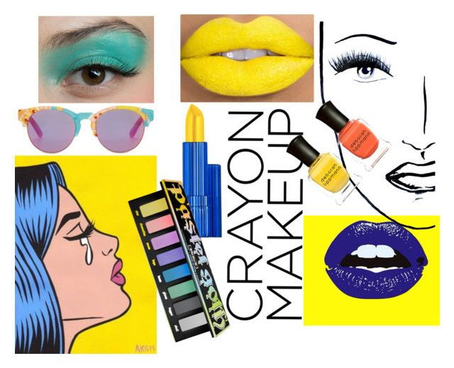 """Crayon Makeup"" by emberwarrior ❤ liked on Polyvore featuring beauty, TOMS, Black Magic Lashes, Deborah Lippmann, Estée Lauder, Aquilano.Rimondi and Kat Von D"
