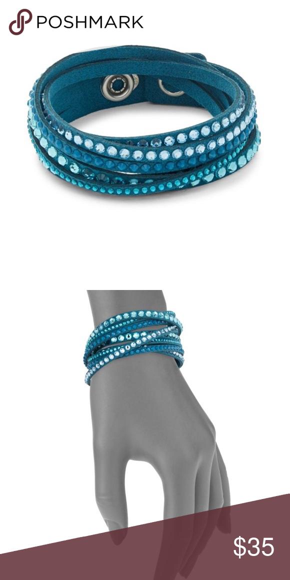 bf33365ac Swarovski slake bracelet deluxe in turquoise Swarovski Turquoise wrap  bracelet with snap closure! Brand new- still in box! Swarovski Jewelry  Bracelets