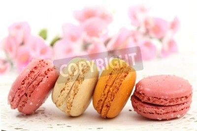Macaroons traditional Parisian cookie via MuralsYourWay.com