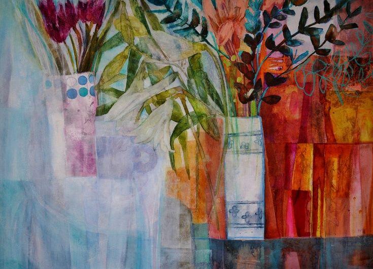 Flowers and Eucalyptus by Caroline Kaye