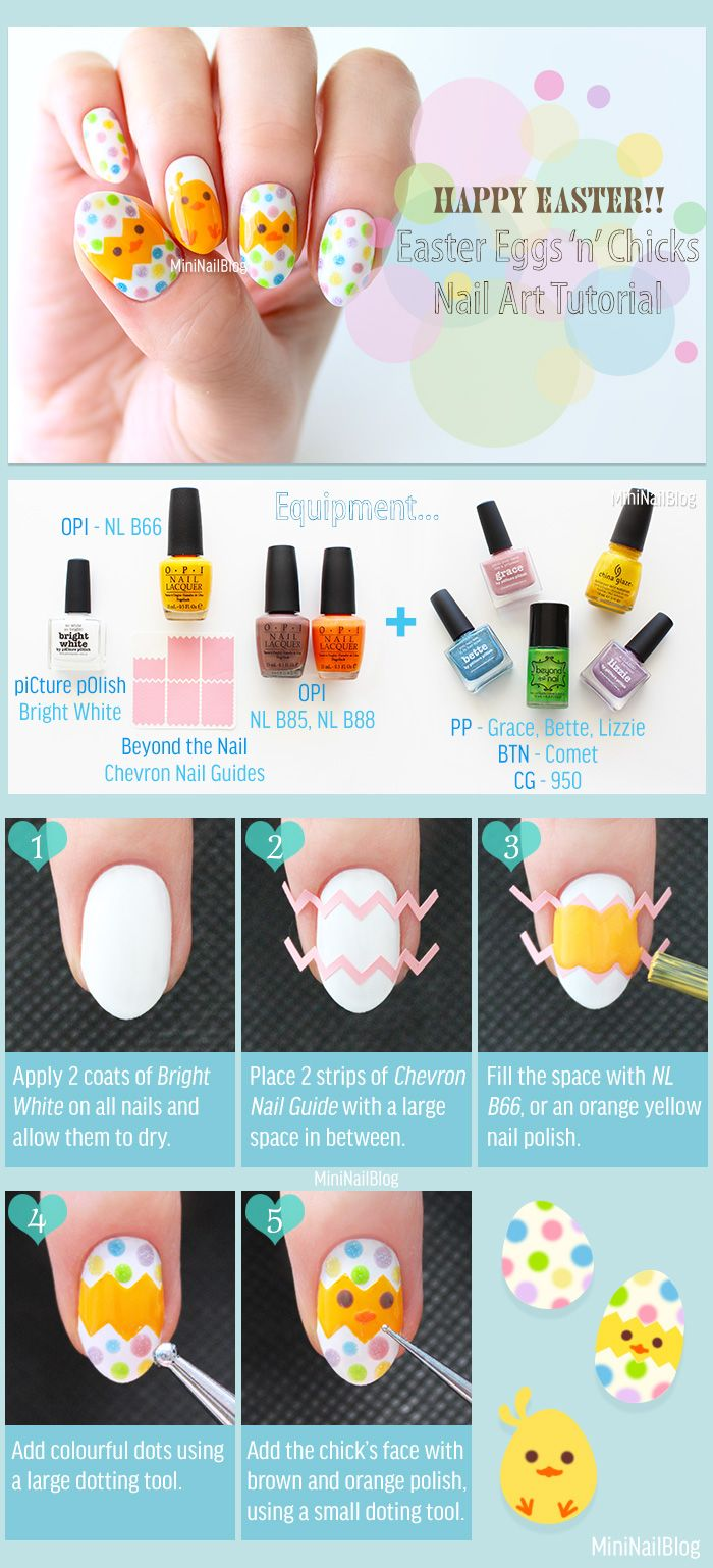 Super Easy Easter Nail Art Tutorial Video is now on https