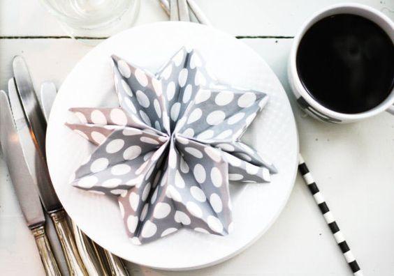 Stern falten aus einer Serviette   Weihnachten   DIY   Tischdeko