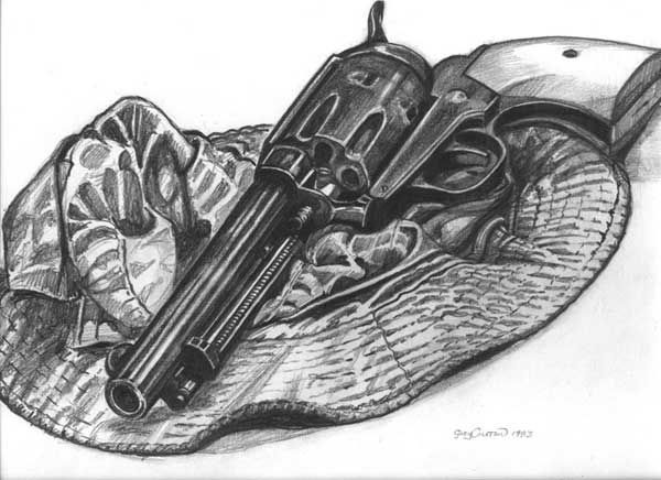 how to draw realistic guns